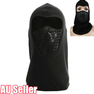 Full Face Thermal Fleece Balaclava Neck Warm Winter Ski Mask Cap Ninja Costume W
