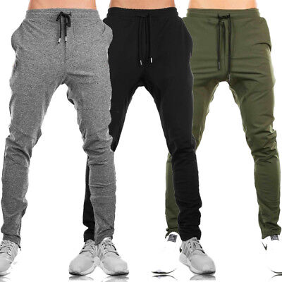 Mens Jogging Bottoms Joggers Tracksuit Fleece Pants Gym Sweats