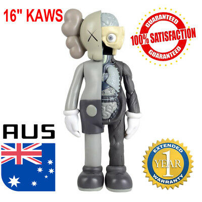 "16"" KAWS Half Dissected Companion Action Figures Toy Grey Collection Gift 1:6"