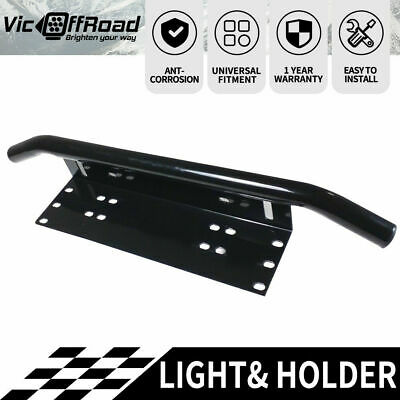 Bullbar Number Plate Frame Light Bar Mounting Bracket UHF Antenne Holder