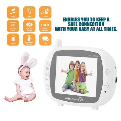 3.5'' LCD Baby Monitor Camera Digital Wireless 2 Way Radio Video Night Vision AU
