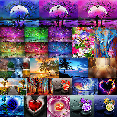 Rose Heart 5D Diamond Painting Embroidery DIY Craft Cross Stitch Kit Home Decor