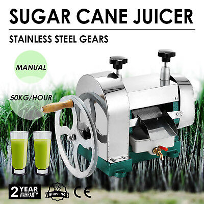 Manual Sugar Cane Press Juicer Juice Machine Stainless Steel 304 Extractor Mill