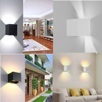 12W LED Wall Light Up Down Cube Indoor Outdoor Sconce Lighting Lamp Modern