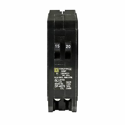 Square D by Schneider Electric HOMT1520CP Homeline 1-15-Amp 1-20-Amp Single-Pole