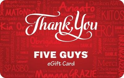 $100 Five Guys Gift cards