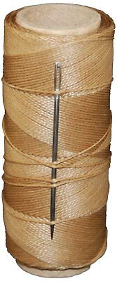 T.W . Evans Cordage 11411 2-Ounce Wax Sail Kit with Needle, Brown