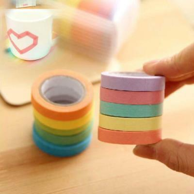 10PC Masking Home Art DIY paper Sticky Adhesive Sticker Decorative Washi Tape ZX