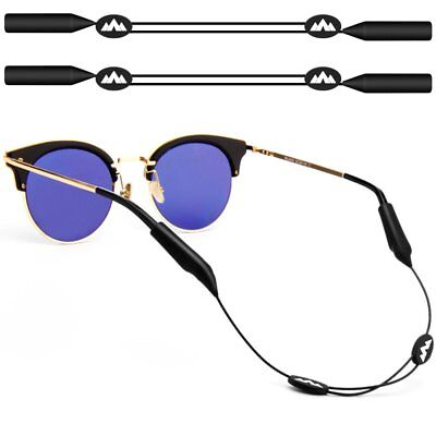 2Pack Adjustable Eyewear Retainer, maxin 16 inches No Tail Sunglass Straps,