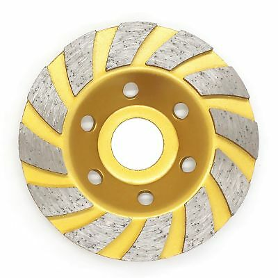 "WEICHUAN 4"" Concrete Turbo Diamond Grinding Cup Wheel For Angle Grinder 12 Segs"