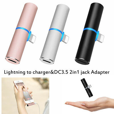 Apple iPhone 7&8 Plus X Dual Lightning to 3.5mm AUX Audio Jack Charge Adapter