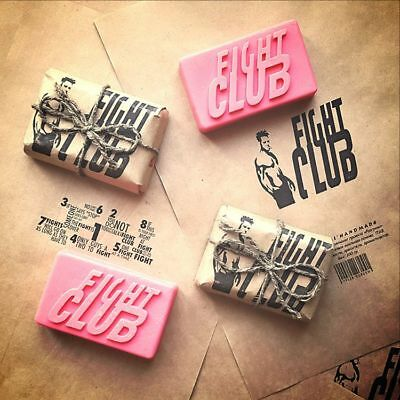 Original Shape Fight Club Soap Handmade by Project Mayhem - Novelty,Unisex, New
