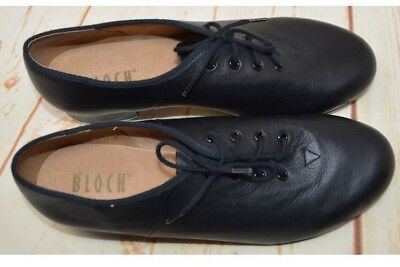 Bloch Black Leather Lace Up Tap Dance Shoes Women's Size 8 Techno Tap