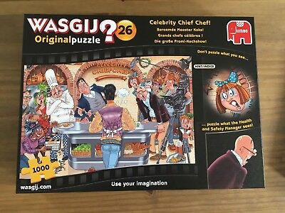 wasgij number 26 celebrity chief chef 1000 piece puzzle excellent condition