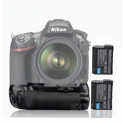 Battery Grip Replacement for MB-D12 for Nikon D810 D800 D800E Camera +2X EN-EL15