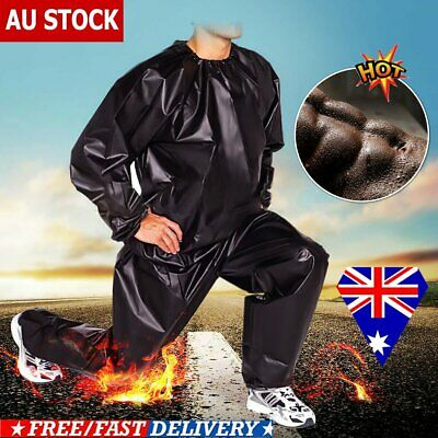 Heavy Duty Sweat Sauna Suit Gym Exercise Training Fitness Weight Loss Anti-Rip E
