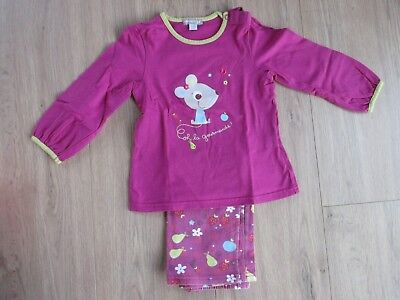 Pyjama fille 2 pièces ORCHESTRA - Taille 24 mois 2 ans