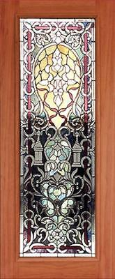 Hand Made Leaded Stained Glass Mahogany Entry Door - Jhl2167 - 43