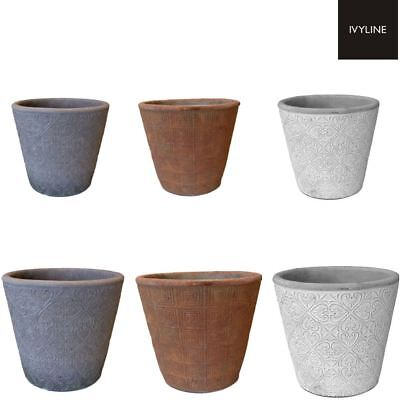 Ivyline Salerno Indoor Home Planters Flower Plant Pot in Various Colour & Size
