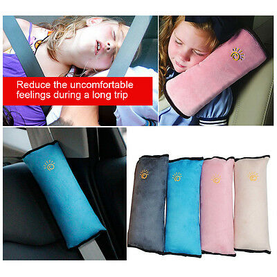 Hot Car Safety Seat Belt Pillow Shoulder Strap Pad Cushions Head Supports Kids