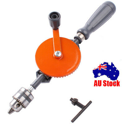 1PCS 1/4-Inch All Steel Casting Hand Drill DIY Tools Teaching Supplies Au Store