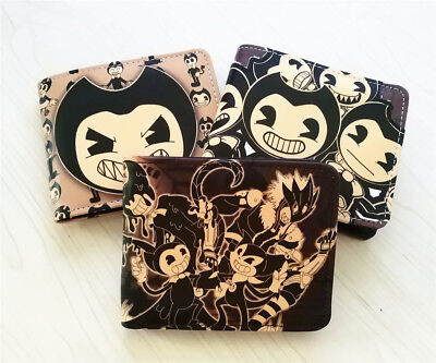 Bendy And The Ink Machine Men Wallet Faux Leather ID/Credit Holder Coin Purse
