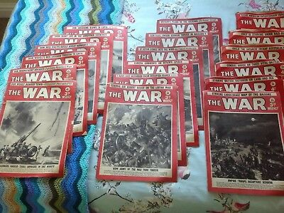 THE WAR WEEKLY MAGAZINE (WW2) 18 issues Dated 20/09/1940-20/06/1941