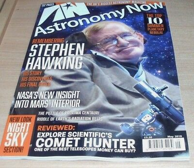 Astronomy Now magazine MAY 2018 Remembering Stephen Hawking, New Mars Insight &