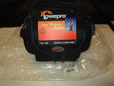 Lot Of (5) Lowepro MX 200 Black Padded Camcorder Bags W/Shoulder Strap NWT