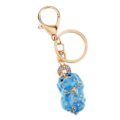 Feng Shui Metal Pi Xiu Keychains to Attract Wealth Lucky Car Bag Keyring #2