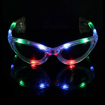 LED Shades Light-Up Glasses Kid Sunglasses Flashing Blinking Rave Glow Party UK