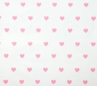 Pottery Barn Kids Heart Organic Flannel Crib Fitted Sheet ~ Light Pink