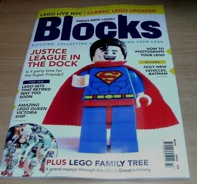 Blocks magazine #42 2018 Building Collecting Customising Lego; Justice League &