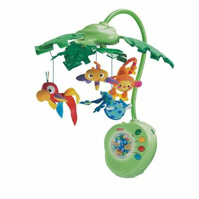 Fisher-Price Rainforest Peek-a-Boo Leaves Musical Mobile Toy for Crib