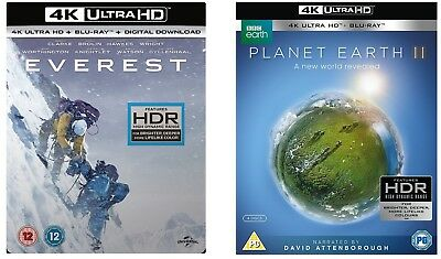 Planet Earth 2 / Everest 4K UHD HDR Blu-Ray / BRAND NEW & OFFICIAL SEALED #B4