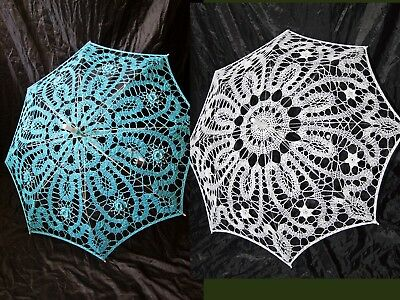 Wedding Accessories Bridal Parasol Lace Floral Photo Shoot Movie Session Victori