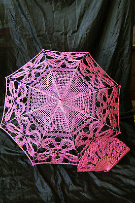 Wedding Accessories Bridal Parasol+HandFan Photo Shoot Movie Session Victori