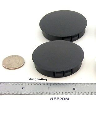 2 LOCKING RIGID Plastic Hole Plugs - To Fit 2