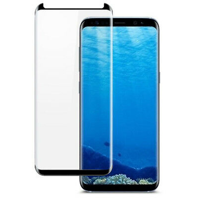For Samsung Galaxy S8 Plus 3D Full Curved Tempered Glass Screen Protector Black