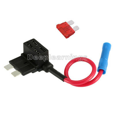 12V Car Add-a-circuit Fuse TAP Adapter Standard ATM APM Auto Blade Fuse Holder S