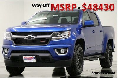 Chevrolet Colorado MSRP$48430 4X4 Z71 Diesel GPS Leather Blue Crew 4WD New Navigation Heated Seats Camera Bluetooth Kinetic 17 16 2017 18 Cab Duramax