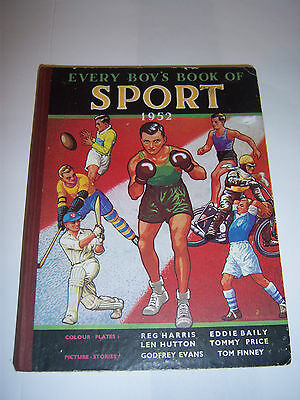 Every Boys' Book Of Sport For 1952 - Tottenham / Yorkshire - Football / Cricket