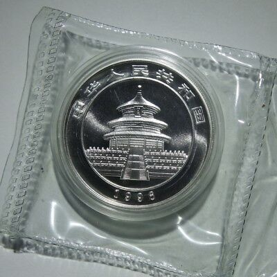 1996 Chinese Panda 1 oz .999 Silver China 10 Yuan Small Date Double Sealed