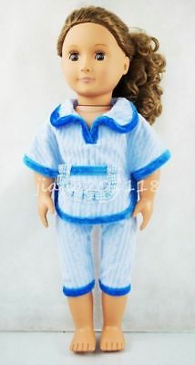 New Blue Leisure Suit Two-piece Garment Fit For 18'' American Girl Doll Clothes