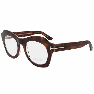 2a8505c11e New Tom Ford Tf 5360 056 Eyeglasses Havana Clear Rx Frame Ft5360 Size 49