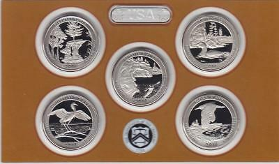 2018 S Clad Proof Set of All 5 America the Beautiful Quarters