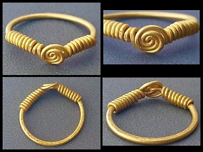 Very Rare Genuine Ancient Solid Gold Viking Finger Ring C 9th 11 Th Cent AD
