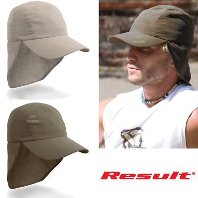 Result CAP LEGIONNAIRE HAT SUN HIGH PROTECTION COVER ADJUSTABLE HOLIDAY TRAVEL
