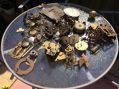 LOT of VINTAGE CLOCK MAKERS , COGS etc FOR SPARES REPAIR