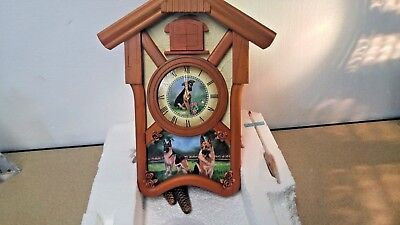 Bradford Collection, Linda Picken, German Shepherd Cuckoo Clock